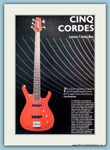 Cinq Cordes Larrivee 5 String Bass Guitar Original Advert 1989 (ref AD2704)