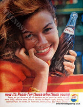 Load image into Gallery viewer, Pepsi-Cola. Set of 2 Original Adverts 1961 (ref AD4028)