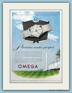 Omega Watches. Original Advert 1952 (ref AD6122)
