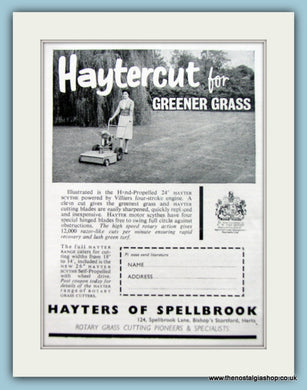 Haytercut Mowers. Original Advert 1961 (ref AD4633)