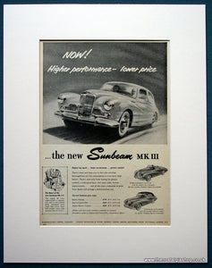 Sunbeam MK III 1954 Original Advert (ref AD1092)