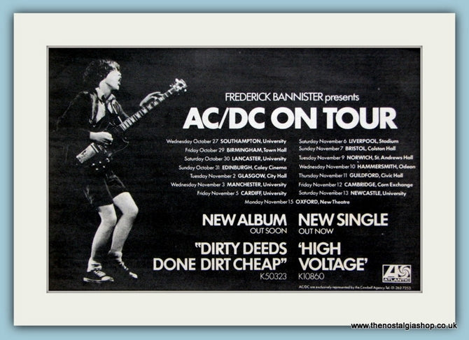AC/DC On Tour Original Advert 1976 (ref AD2071)