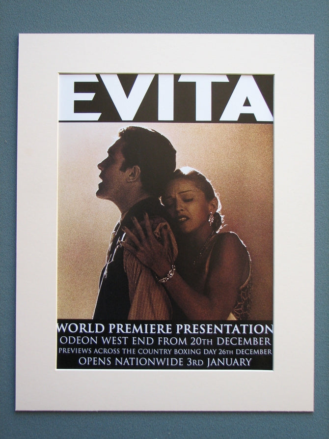 Evita Premier presentation 1997 Original advert (ref AD681)