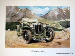 MG L2, Magna 2-Seater. Classic Large Car Print.