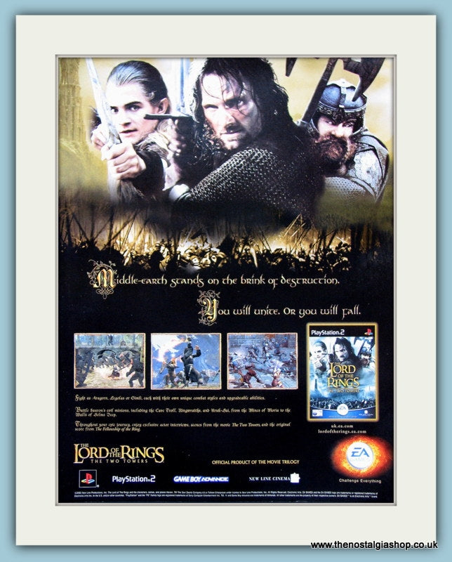 Lord Of The Rings The Two Towers Original Advert 2002 (ref AD3958)