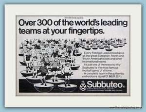 Subbuteo Teams Original Advert 1980 (ref AD6409)
