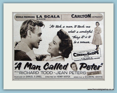 A Man Called Peter starring Richard Todd, 1955 Original Advert (ref AD3222)