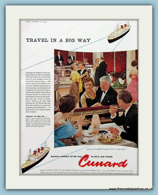 Cunard Cruise Ship Original Advert 1959 (ref AD2310)