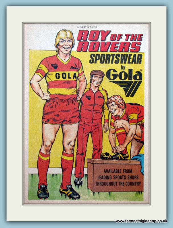 Gola Sports Wear Roy Of The Rovers Original Advert 1981 (ref AD6452)