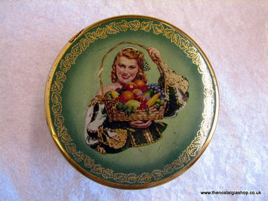 Wilkin's Greensleeves Fruit Bon Bons. Vintage Tin (ref nos052)
