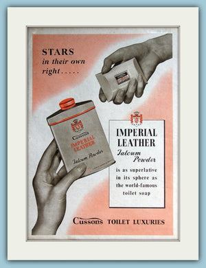 Cussons Imperial Leather Talc Original Advert 1953 (ref AD3716)