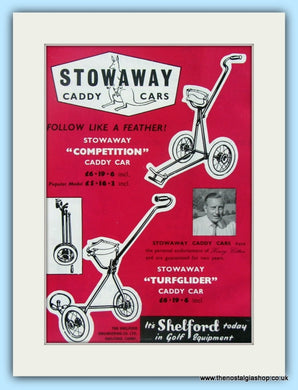 Stowaway Caddy Car. Original Advert 1961 (ref AD4924)