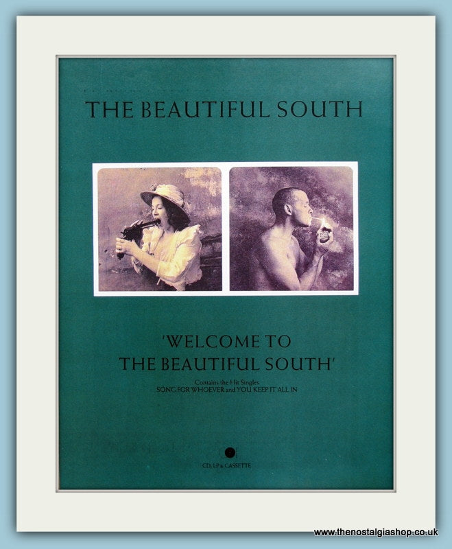 The Beautiful South Welcome To The Beautiful South Original Music Advert 1989 (ref AD3426)