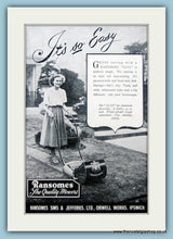Load image into Gallery viewer, Ransomes Lawnmowers. Set of 3 Original Adverts 1950s (ref AD4622)