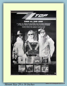 ZZ Top Gimme All Your Loving Original Advert 1984 (ref AD9104)