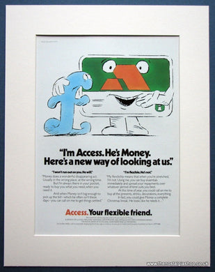 Access Your Flexible Friend 1978 Original Advert (ref AD972)