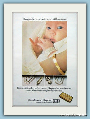 Saunders and Shepherd Jewellers Original Advert 1980's (ref AD6256)