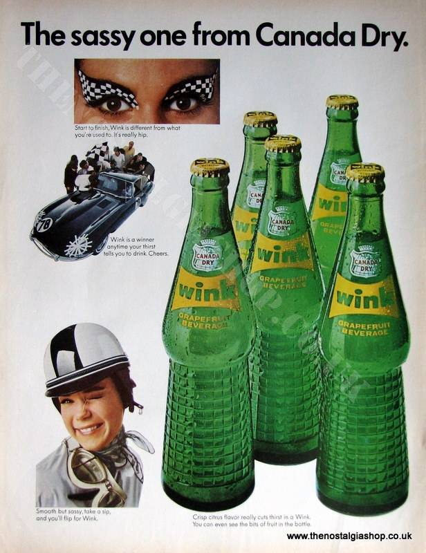 Wink by Canada Dry 1966 Original Advert (ref AD4019)