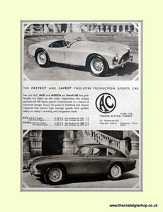 AC Ace & Aceca. Set of 3 Original Adverts (ref AD6616)