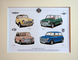 Mini  The Original Cooper 1961 - 71  Mounted print