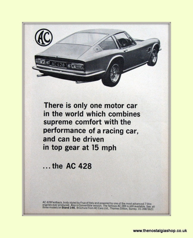 AC 428 Original Advert 1967 (ref AD6614)