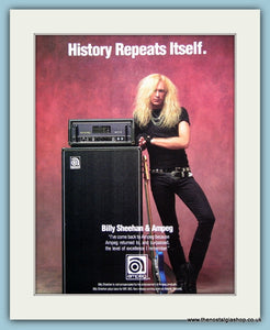 Ampeg Billy Sheehan Original Advert 1991 (ref AD2724)