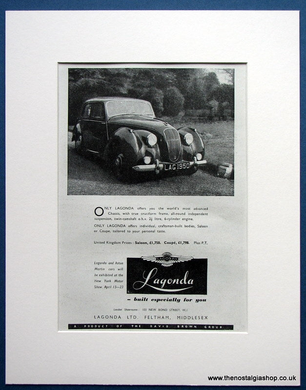 Lagonda 1950 Original Advert (ref AD1691)
