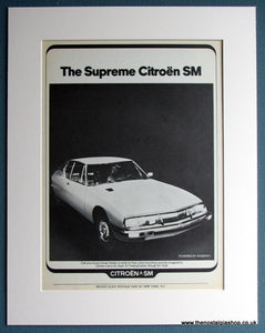 Citroen SM 1972 Original Advert (ref AD1699)