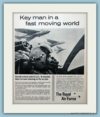 The Royal Air Force Set Of 3 Original Adverts 1962 & 1963 (ref AD6299)