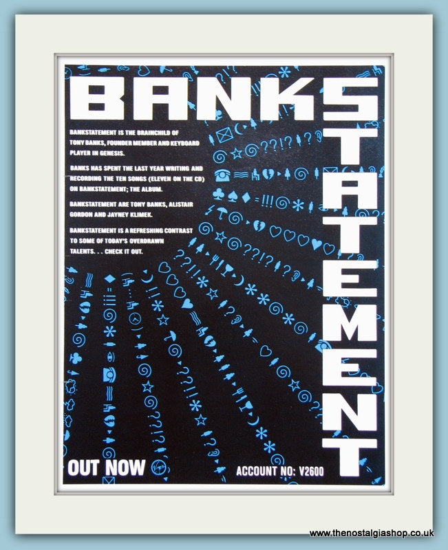 Bankstatement 1989 Original Advert (ref AD3314)