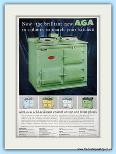 AGA Cooker. Original Advert 1957 (ref AD4752)