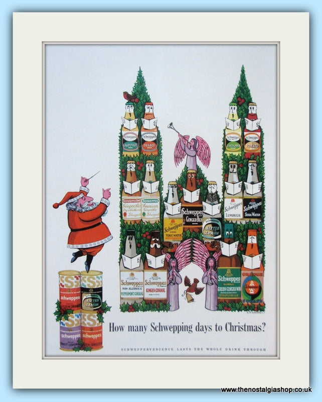 Schweppes Drinks For Christmas 1963 (ref AD5005)