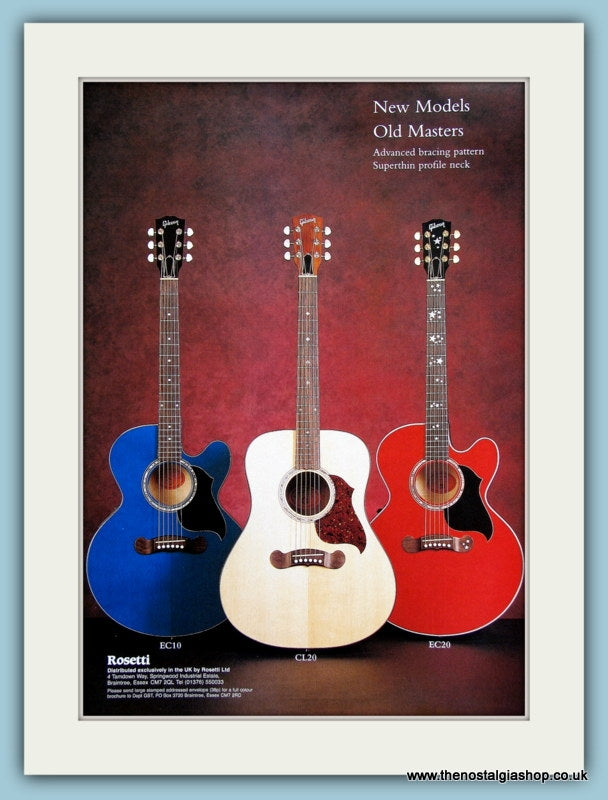 Rosetti Guitars. Original Advert 2002 (ref AD2349)
