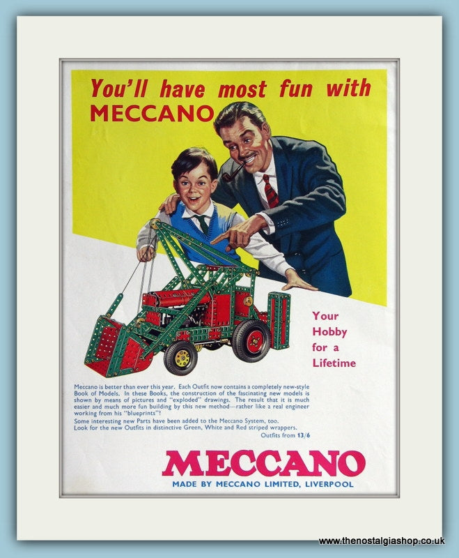 Meccano. 1962 Original Colour Advert (ref AD2824)