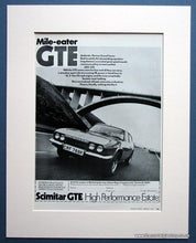Load image into Gallery viewer, Scimitar GTE Estate Set of 2 1972 Original Adverts (ref AD1618)