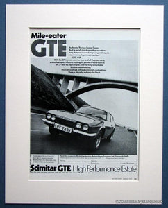 Scimitar GTE Estate Set of 2 1972 Original Adverts (ref AD1618)