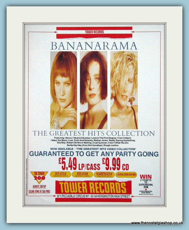 Bananarama The Greatest Hits Collection 1989 Original Advert (ref AD3312)