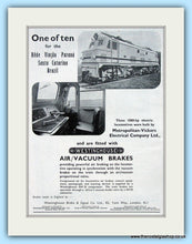 Load image into Gallery viewer, Westinghouse Brakes Set Of 2 Original Adverts 1955 & 1957 (ref AD6504)