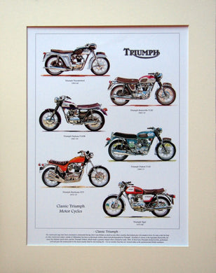 Triumph Motorcycles Mounted print