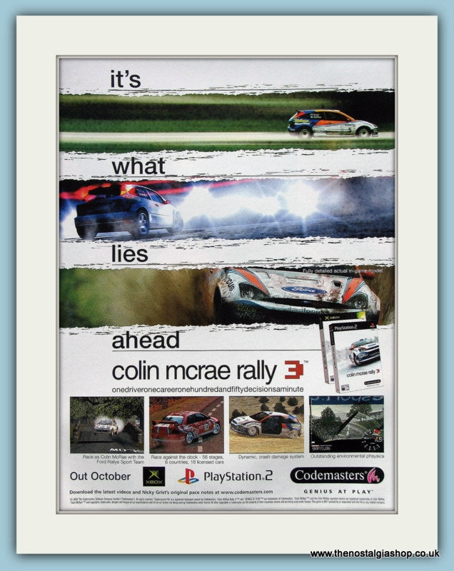 Colin Mcrae Rally 3 Original Advert 2002 (ref AD3998)