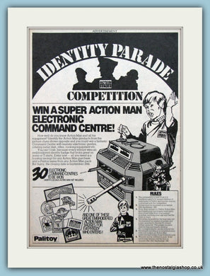 Action Man Competition Identity Parade Original Advert 1981 (ref AD2622)