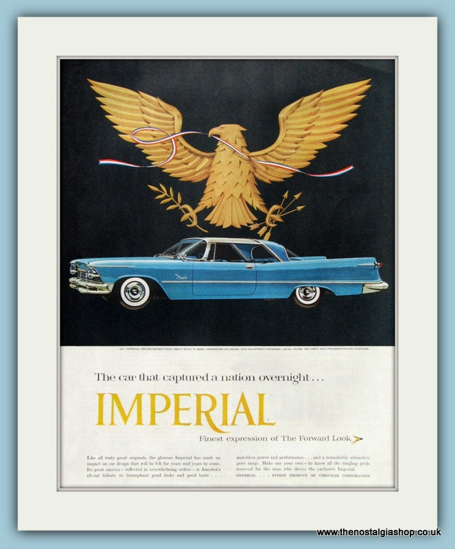 Chrysler Imperial Original Advert 1957 (ref AD8302)