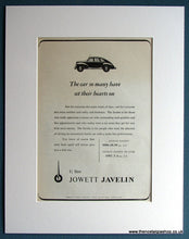 Load image into Gallery viewer, Jowett Javelin Set Of 3 1952/53 Original Adverts (ref AD1715)