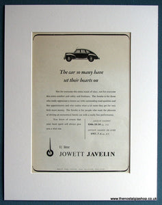 Jowett Javelin Set Of 3 1952/53 Original Adverts (ref AD1715)
