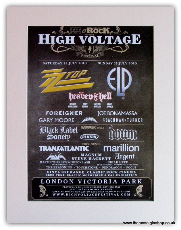 High Voltage Event Advert 2010 (ref AD1846)