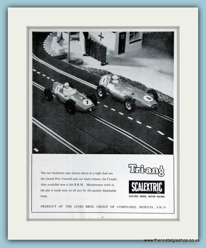 Tri-ang Scalextric Original Advert 1961 (ref AD2810)