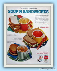 Campbell's Condensed Soup. Original Advert 1960 (ref AD8117)