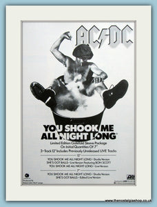 AC DC You Shook Me All Night Long 1980 Original Advert (ref AD3111)