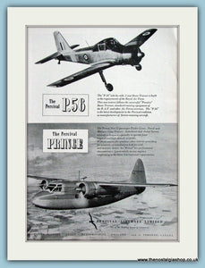The Percival P.56 & Prince Original Advert 1951 (ref AD4263)