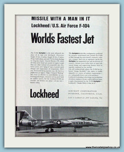 Lockheed/ U.S.Airforce F-104 Original Advert 1956 (ref AD4273)